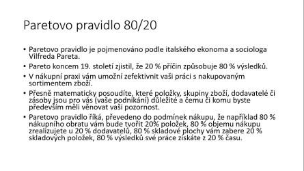 Paretovo pravidlo 80-20 text
